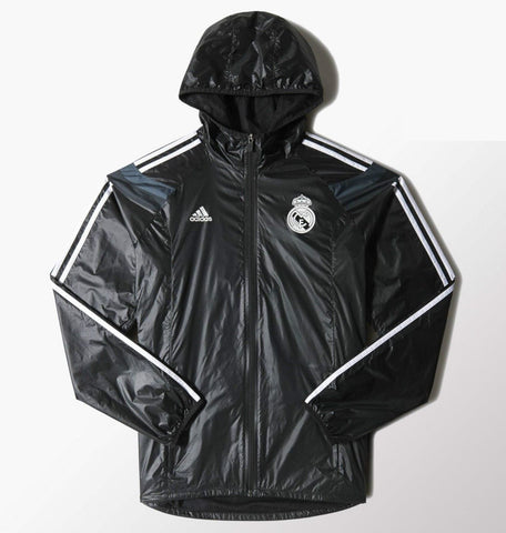 adidas Real Madrid Anthem Jacket Black/White Mens