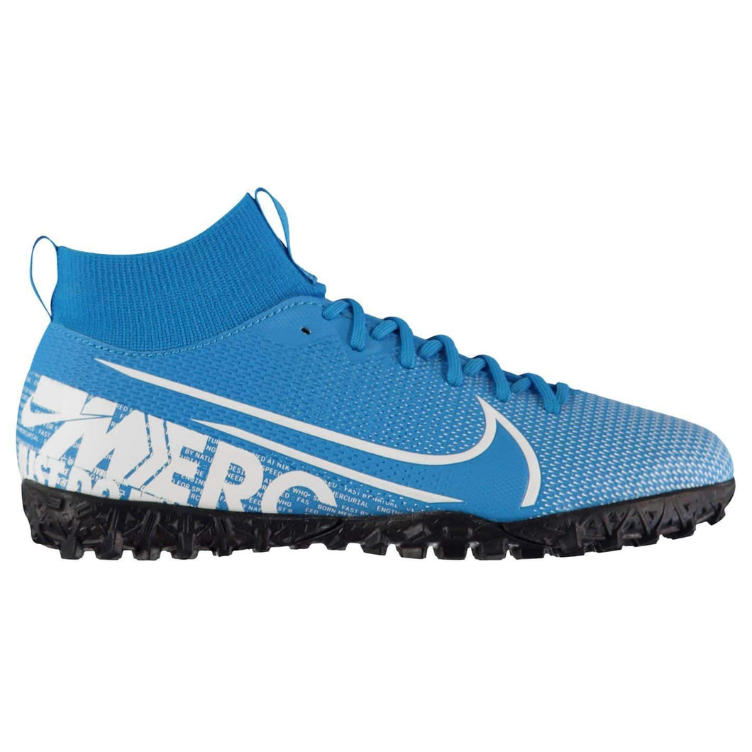 Nike Mercurial Superfly Academy DF Astro Turf Football Boots Boys Blue /White