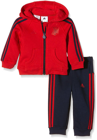 adidas Spain 3 Stripe Jogger Tracksuit Infants Red/Nvy