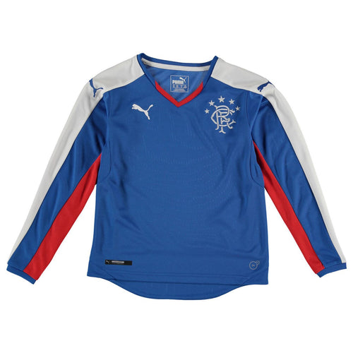 Puma Glasgow Rangers Long Sleeve Jersey Juniors Blue/White