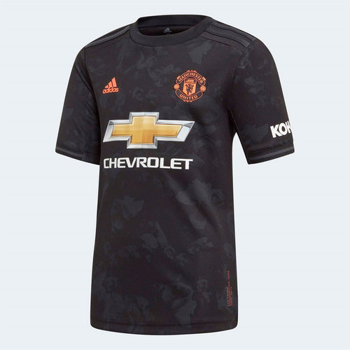 adidas Manchester United Third Shirt 2019 20 Juniors Black