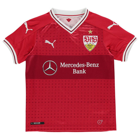 Puma VfB Stuttgart Away Jersey 2017 2018 Juniors Red
