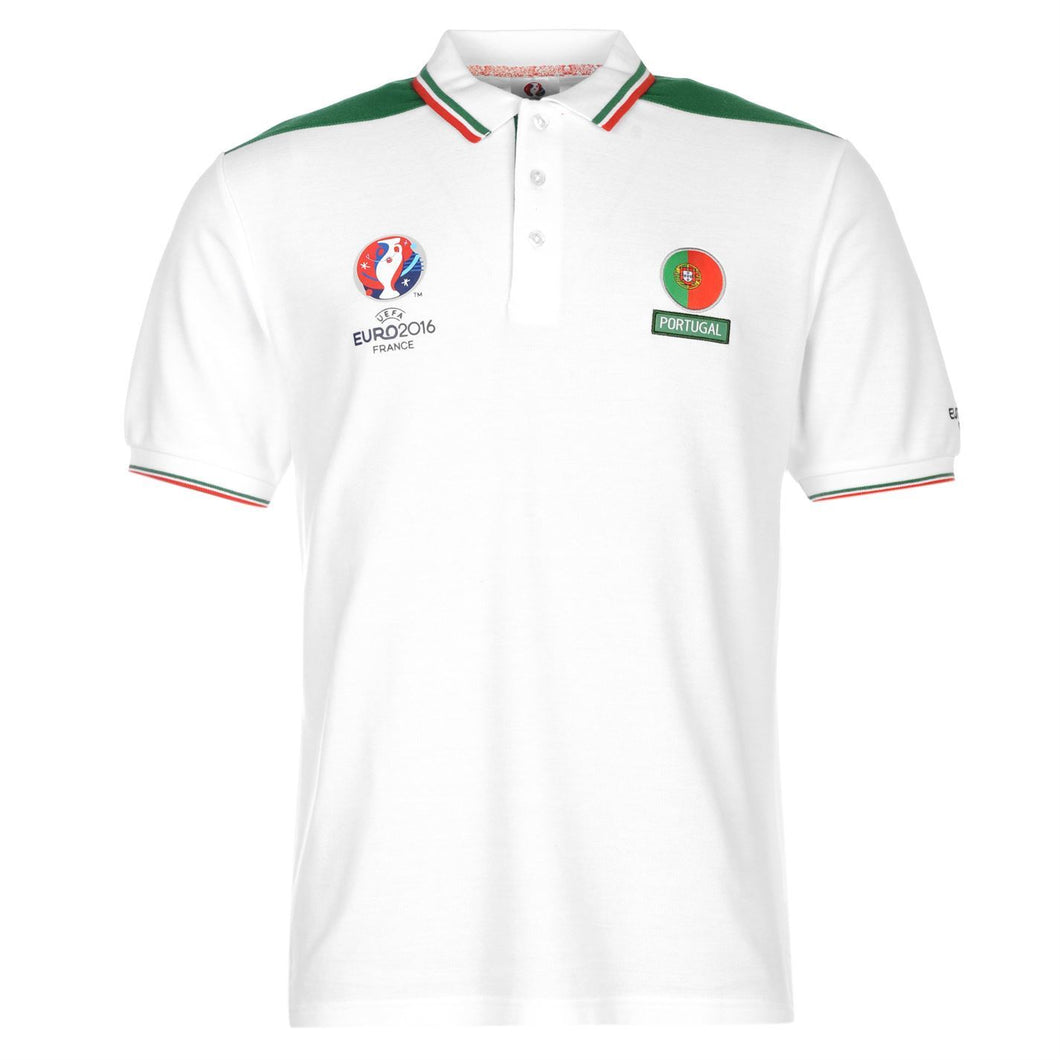 UEFA EURO 2016 Portugal Polo Shirt White/Green Mens