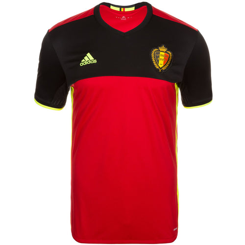 adidas Belgium RBFA Home Jersey 2016 Mens Red/Black