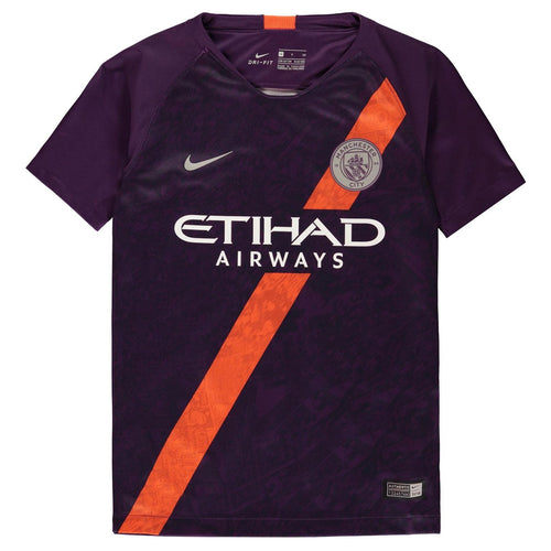 Nike Manchester City Third Jersey 2018 2019 Juniors Purple