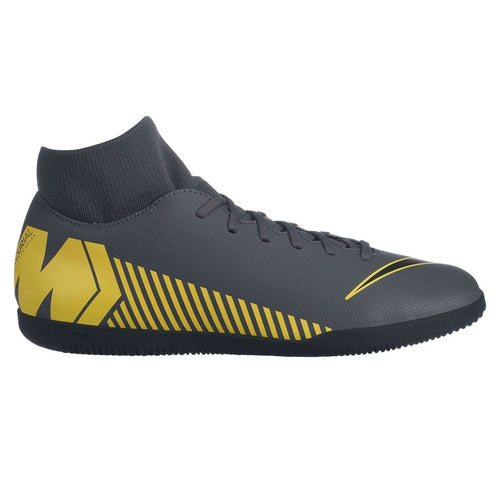 Nike Mercurial Superfly Club DF Indoor Football Boots Mens Grey/Yellow