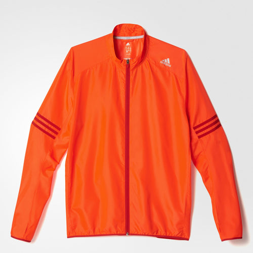 adidas Response Wind Running Jacket Mens Red