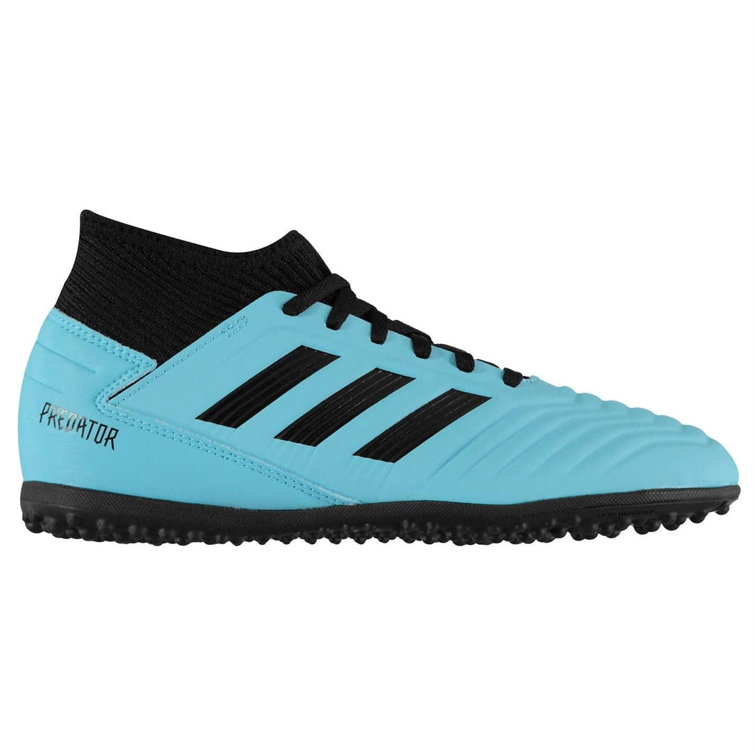 adidas Predator 19.3 Astro Turf Football Boots Junior Boys Cyan/Black