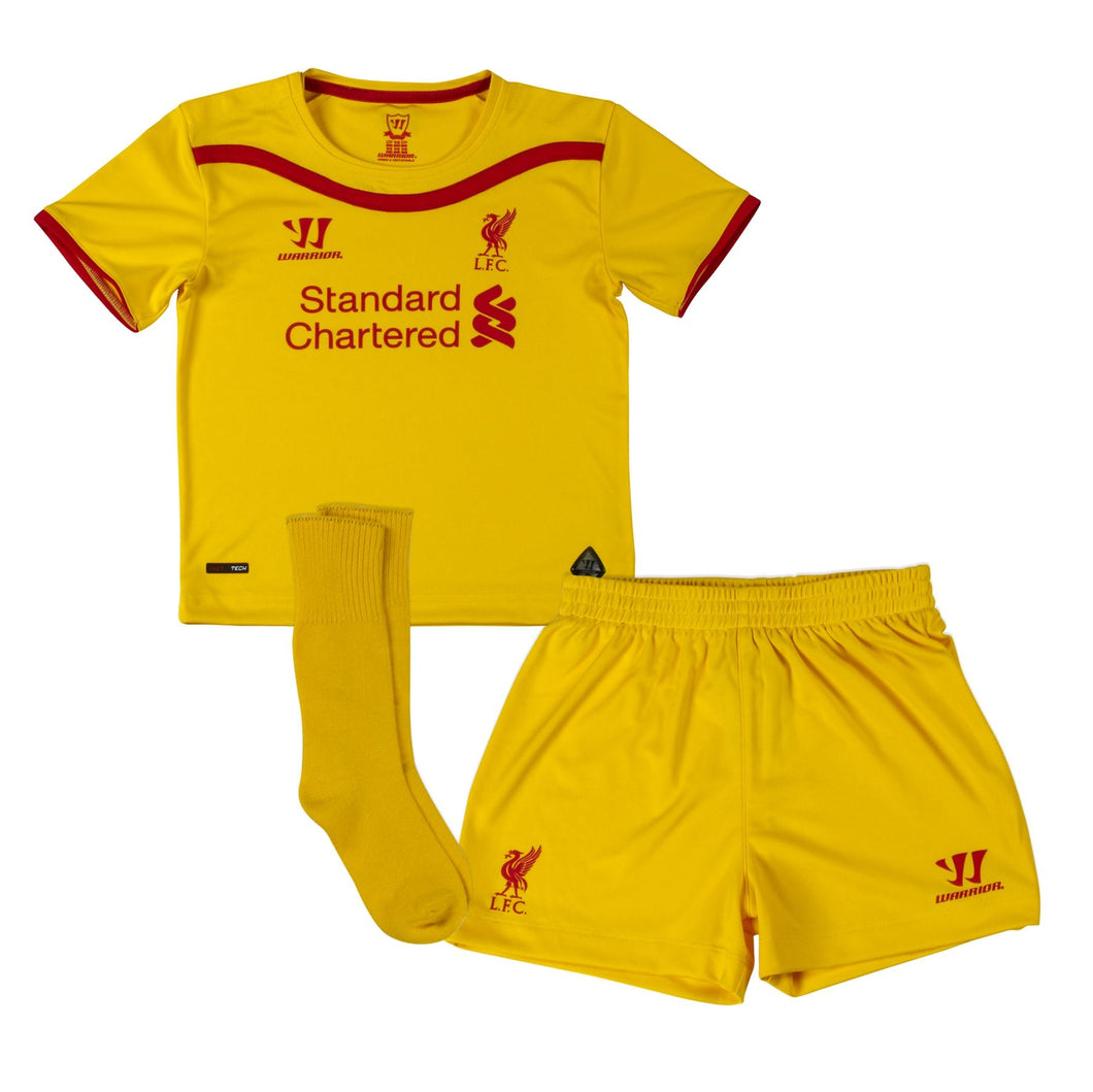 Warrior Liverpool FC Away Mini Kit 2014 2015 Yellow Infants