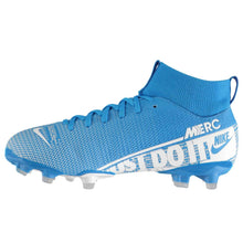 Nike Mercurial Superfly Academy DF FG Football Boots Junior Boys Blue /White