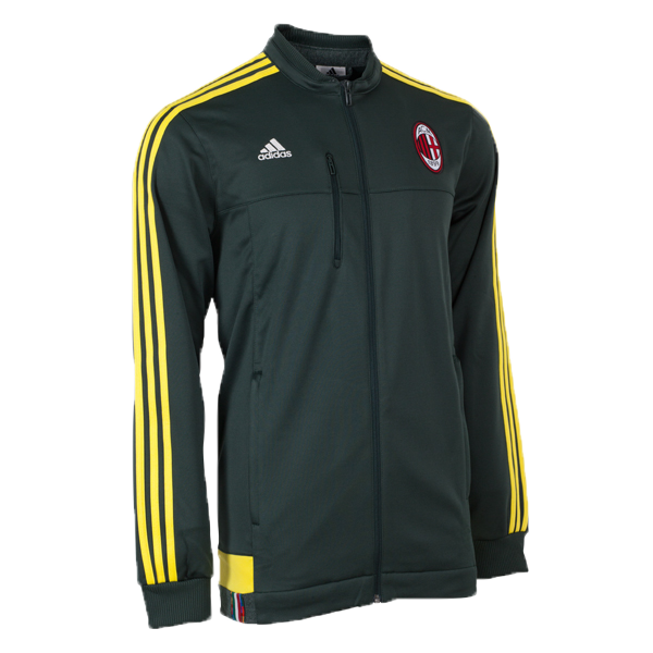 adidas AC Milan Anthem Jacket Green/Yellow Mens