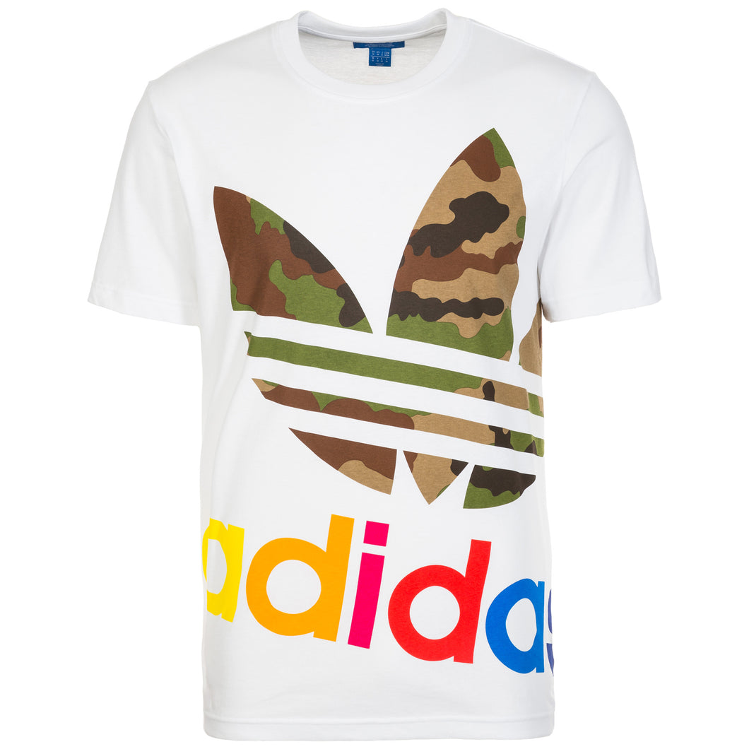 adidas Originals Block It Out T-Shirt Mens White/Camouflage