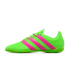 adidas Ace 16.4 Indoor Football Shoes Juniors Green/Pnk