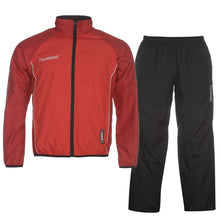 Hummel 2 Piece Football Training Tracksuit Set Red/Black Mens