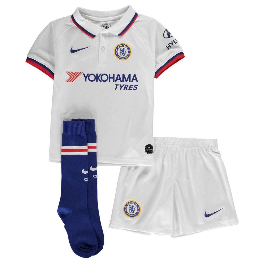 Nike Chelsea Away Mini Kit 2019 2020 Juniors White
