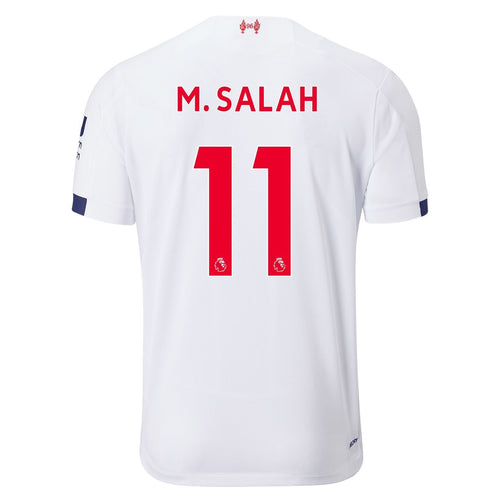 New Balance Liverpool Salah Away Shirt 2019 20 Juniors White