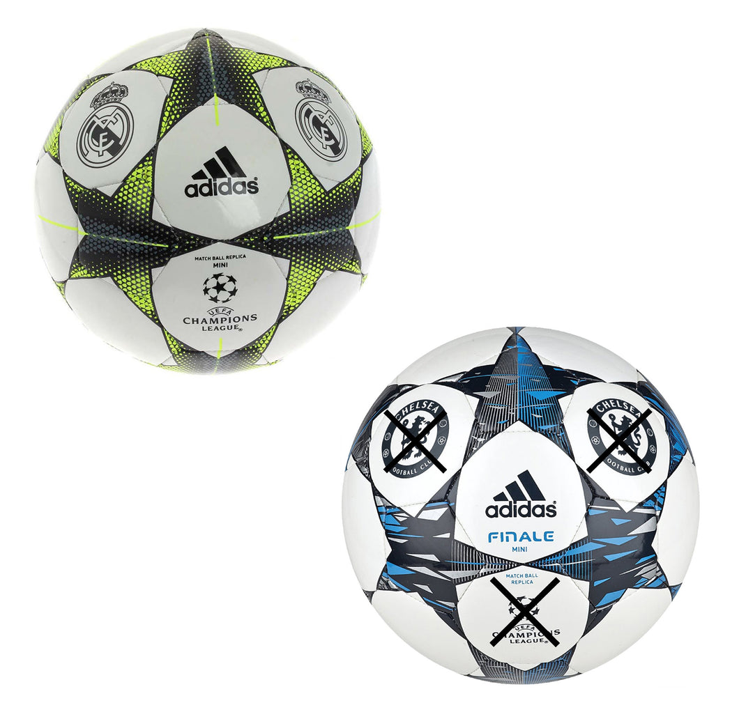 Adidas UCL Champions League Mini Footballs Chelsea FC & Real Madrid - B Grade