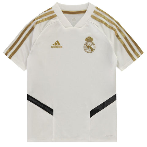 adidas Real Madrid Training T Shirt Juniors White