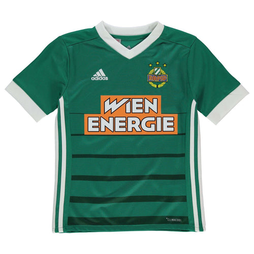 adidas Rapid Vienna Wien Home Jersey 2018 2019 Juniors Green