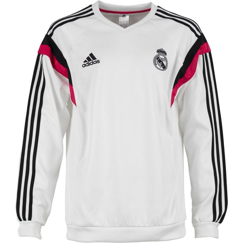 adidas Real Madrid Sweatshirt White/Black Mens