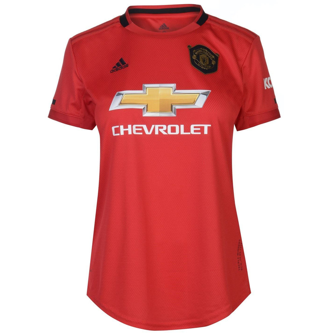 adidas Manchester United Home Shirt 2019 20 Womens Red