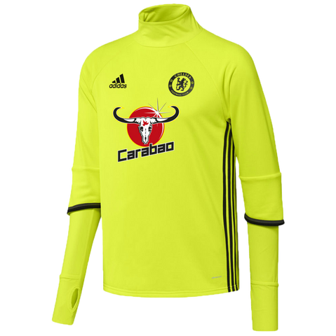 Chelsea FC Fluoro Yellow Training Jersey Shirt Mens