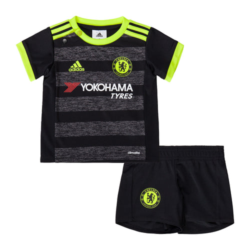 adidas Chelsea FC Away Mini Kit Infants Baby Black/Yellow
