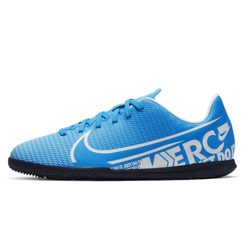 Nike Mercurial Vapor Club Indoor Football Boots Junior Boys Blue /White