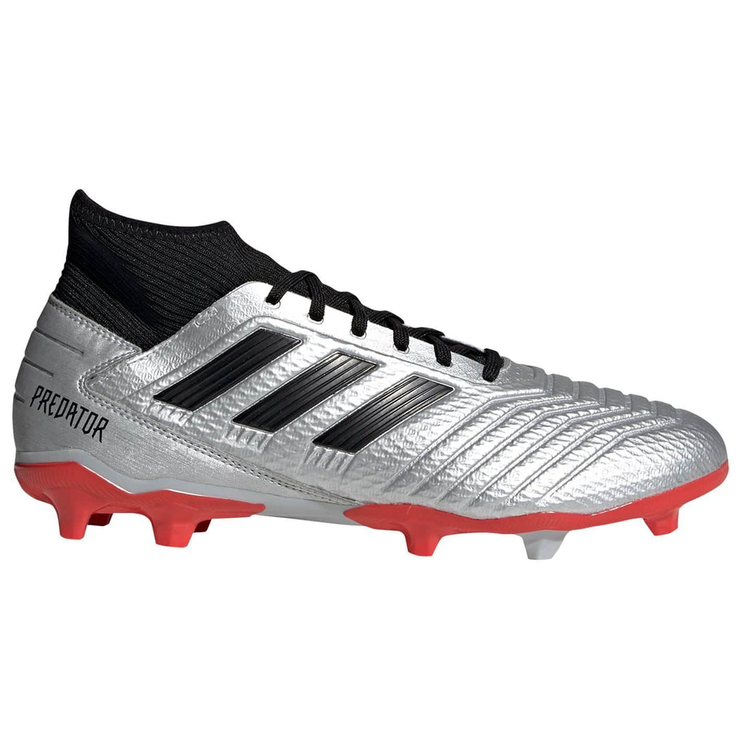 adidas Predator 19.3 Firm Ground Football Boots Mens Silver