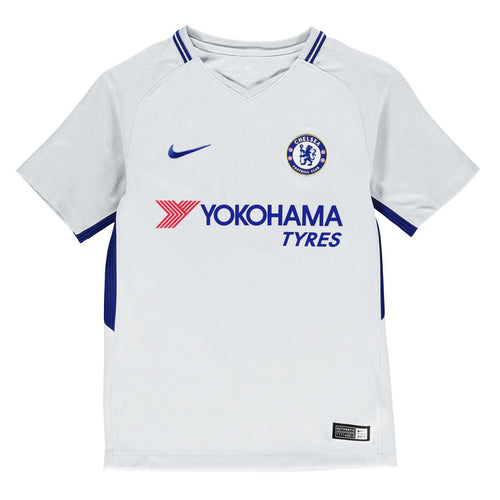 Nike Chelsea Away Jersey 2017 2018 Juniors White