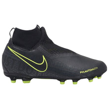 Nike Phantom Vision Academy DF FG Football Boots Junior Boys Black/Yellow