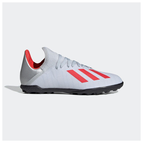 adidas X 19.3 Astro Turf Football Shoes Childrens Silver