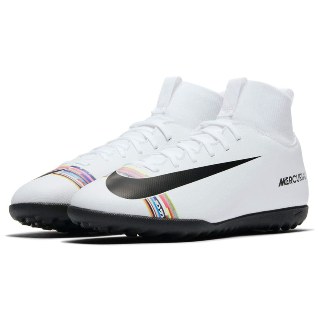 Nike Mercurial Superfly Club DF Astro Turf Football Boots Boys White/Platinum