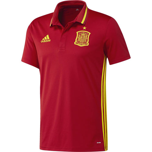 adidas Spain FEF Climalite Polo Shirt Red Mens