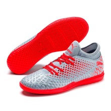 Puma Future 4.4 Indoor Football Boots Mens Silver / Red