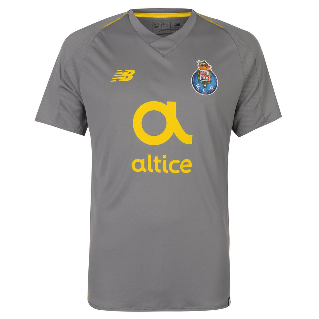 New Balance FC Porto Away Shirt 2018 2019 Mens Grey
