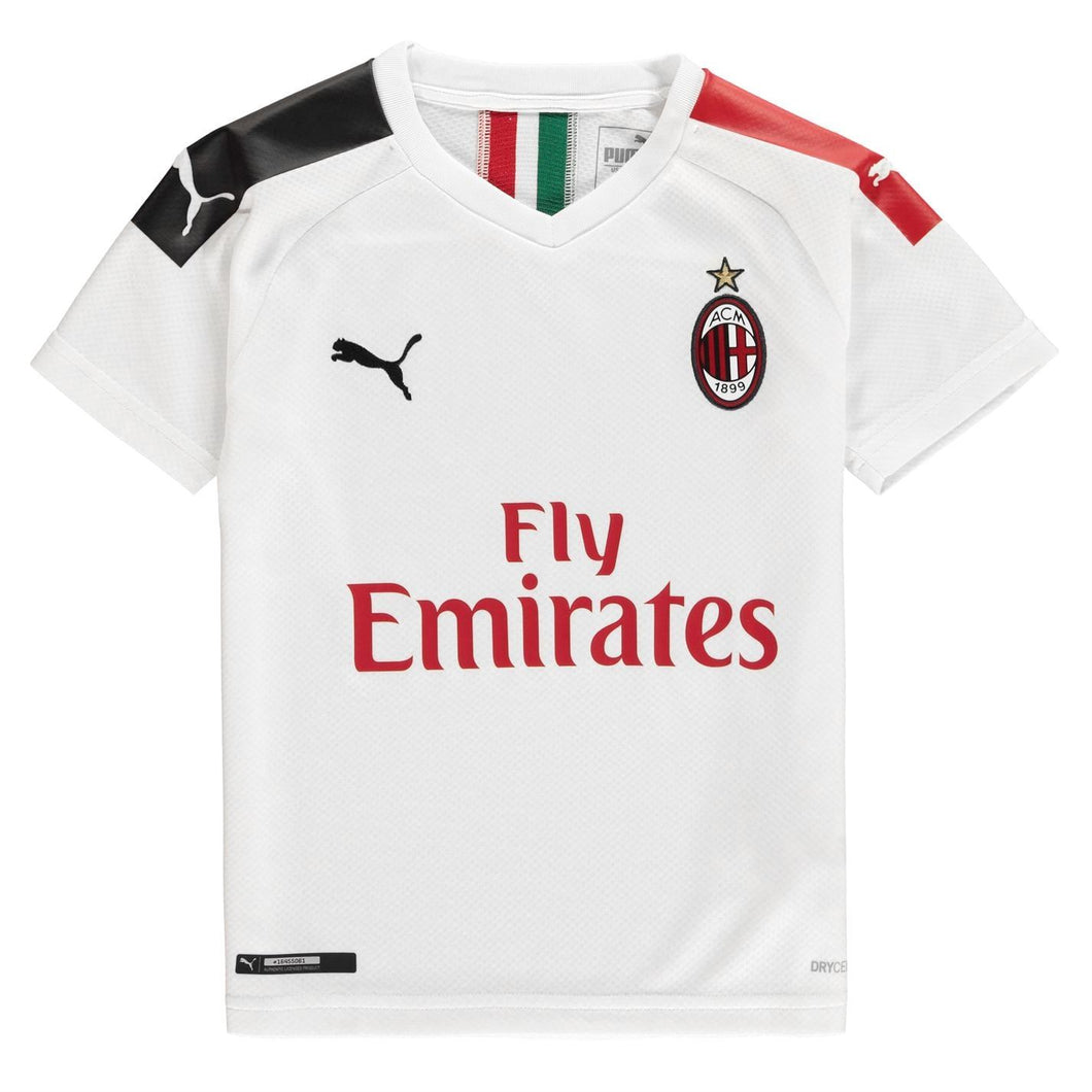 Puma AC Milan Shirt 2019 2020 Juniors White/Red