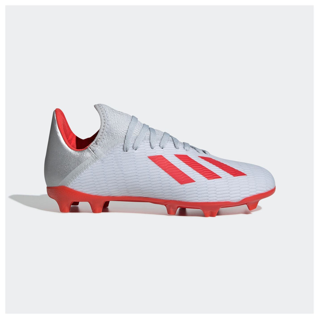 adidas X 19.3 Firm Ground FG Football Boots Childrens Silver
