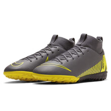 Nike Mercurial Superfly Academy DF Astro Turf Football Boots Boys Grey/Yellow