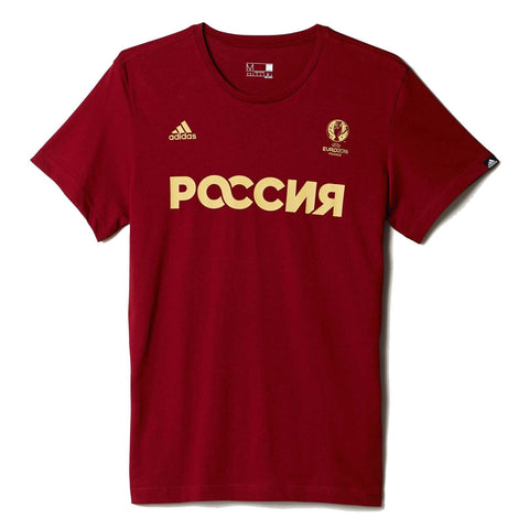 adidas Russia Climalite T-Shirt Red Mens