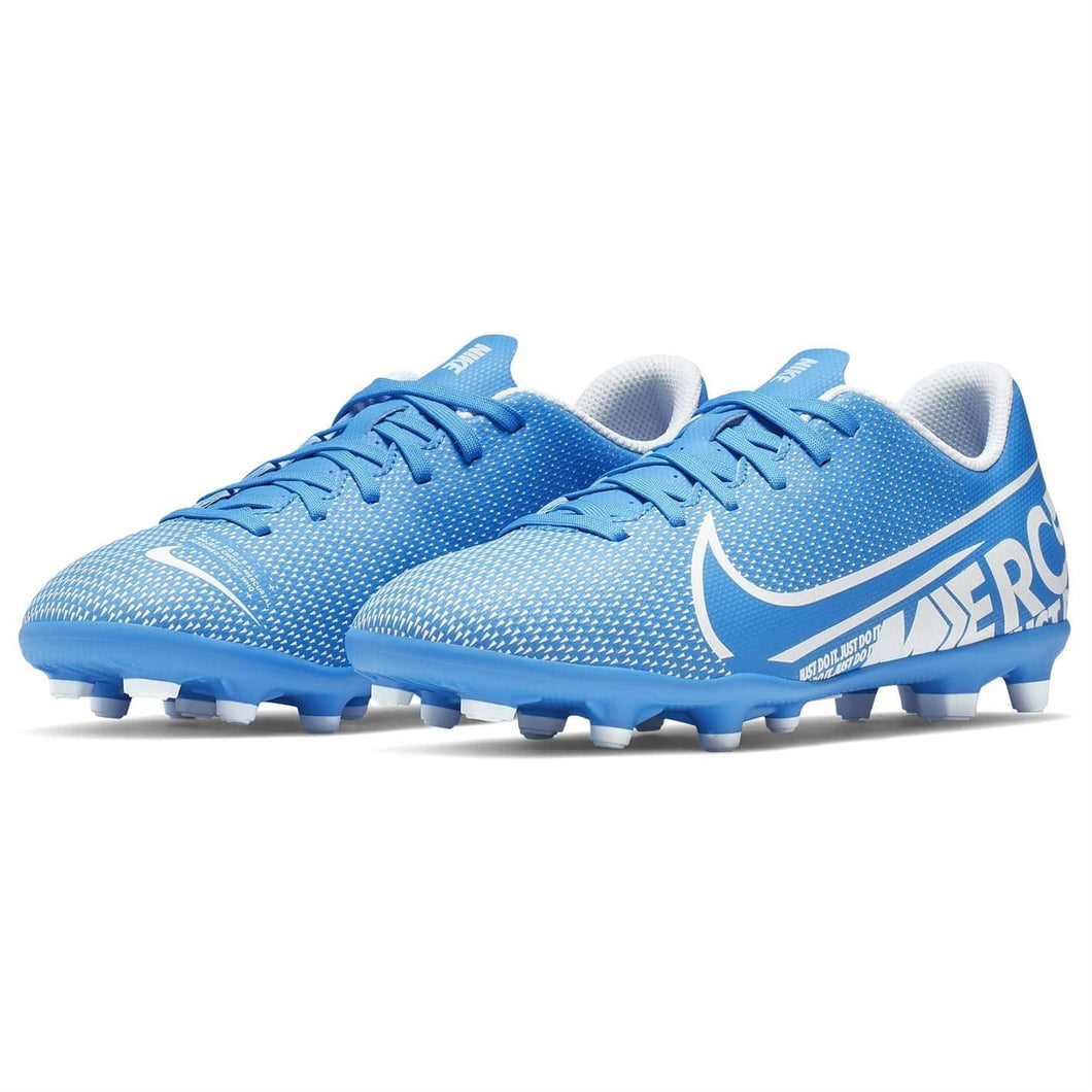 Nike Mercurial Vapor Club FG Football Boots Junior Boys Blue /White