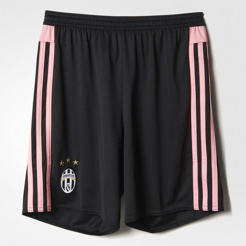 adidas Juventus Away Shorts 2015 2017 Juniors Black/Pink