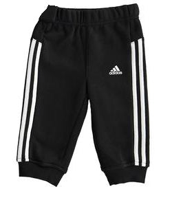 adidas 3 Stripe Sweat Pants Infants Black/White