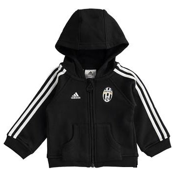 adidas Juventus Full Zip Hoody Black Infants