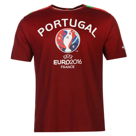 Portugal UEFA Euro 2016 Official Mens T-Shirt - EURO CHAMPS!