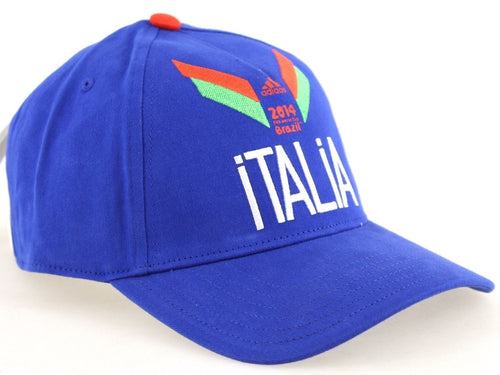 adidas Italia Baseball Cap 2014 Fifa World Cup Brazil Mens Blue