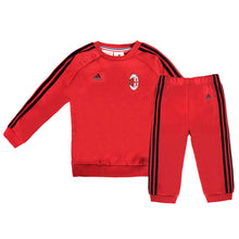 adidas AC Milan 3 Stripe Tracksuit Infants Red