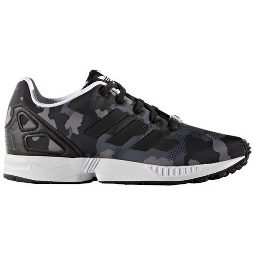 adidas Originals ZX Flux Trainers Juniors Black/Camoflauge