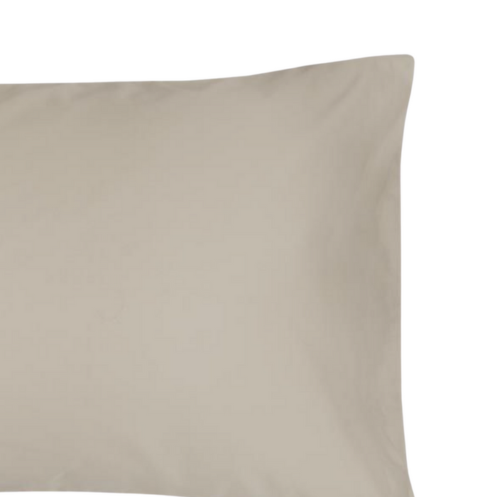 144 Thread Count Polycotton Stone Pillowcase