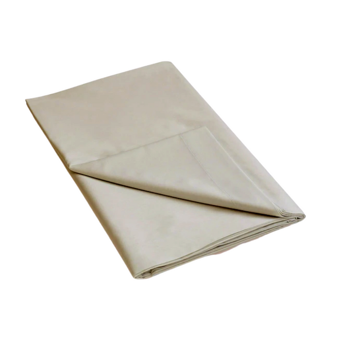 144 Thread Count Polycotton Stone Flat Sheet